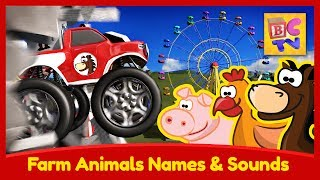 Download Learn Names & Sounds of Farm Animals with Monster Trucks at the Carnival Video