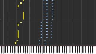 Download Hold The Line - Toto (Easy Piano Tutorial) in Synthesia (100% speed) Video