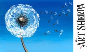 Download How to paint with Acrylic on Canvas Dandelion Breeze LIVE stream Video