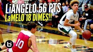 Download LiAngelo Ball Drops 56 Pts & LaMelo Dishes 18 Dimes! Chino Hills BLOWOUT Win Full Highlights! Video
