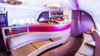 Download Qatar Airways A380 Business Class London to Doha Video