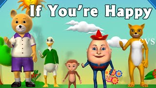 Download If You're Happy and You Know it Clap Your Hands Song - 3D Animation Rhymes for Children Video