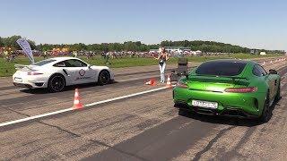 Download Mercedes-AMG GT-R vs Porsche 991 Turbo S Video