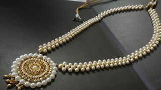 Download Grand Pearl Amazing new design making tutorial video | hand craft jewelry factory Video