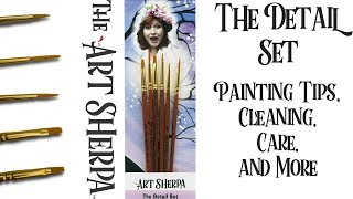 Download Art Sherpa Detail Brushes How to create Strokes brush Cleaning and Care Video