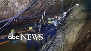 Download Rescuers rush to help boys stranded in cave before monsoon hits Video