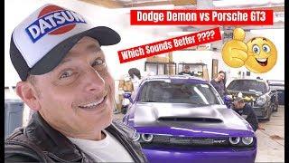 Download アメリカでの日曜朝ドラ!ダッジデーモンとポルシェGT3の爆音対決!フェラーリでカーミーティングへ! Demon vs GT3 Which Sounds Better? DDE Video