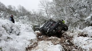 Download SNOW OFFROADING **Land Rover Discovery & Defender & Rrc Trayback** Video