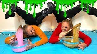 Download ACRO Gymnastics SLIME CHALLENGE!! | The Rybka Twins Video