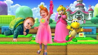 Download PRINCESS PEACH pretend play with Mystery Guest baby brother Video