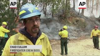 Download Firefighters From Around US Fighting Ga Wildfire Video