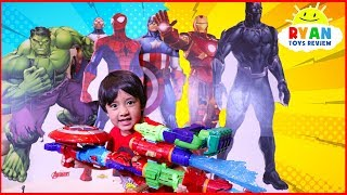 Download Ryan Pretend play with Avengers Infinity War Superhero Toys Hide and Seek Video