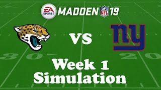 Download Madden NFL 19 Week 1 Simulation: Jaguars @ Giants Video