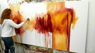 Download Abstract acrylic painting Demo - Abstrakte Malerei ″Flüsterzeit″ by Zacher-Finet Video