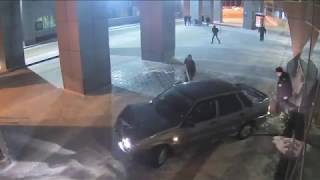 Download Russian Driver Drives Car Into Airport Video