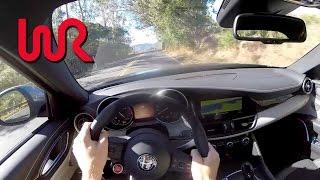 Download 2017 Alfa Romeo Giulia Quadrifoglio - WR TV POV Backroad Drive Video