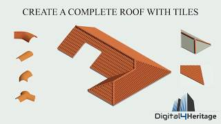 Download Create a complete roof with tiles in Revit Video