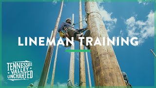 Download LINEMAN TRAINING Learning to Climb a Pole like a Lineman - Tennessee Valley Uncharted Video