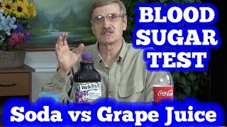 Download Blood Sugar Test: Soda (Coca Cola) vs Grape Juice Video