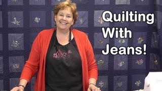 Download Quilt Using Old Jeans - Denim Quilting! Video