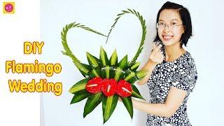 Download Cắm hoa bàn thờ tập 49   HOA CƯỚI   DIY Flamingo Wedding Flowers Video