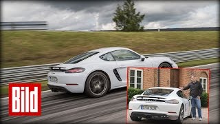 Download Porsche 718 Cayman - So fährt der Cayman mit Vier-Zylinder-Boxer (test/hq) Video