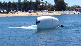 Download MC Scow capsize practice with mast float and rescue line Video