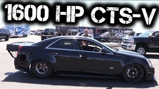 Download Brutal CTS-V Rips a Quarter Mile Burnout, Goes 200+mph! Video