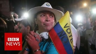 Download Colombia referendum: Voters reject Farc peace deal - BBC News Video