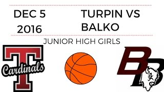 Download Turpin JH Girls Basketball vs Balko Video