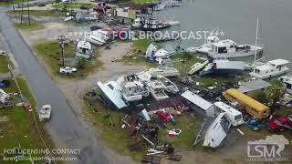 Download 08-26-2017 Rockport, Texas - Hurricane Harvey aerial imagery destruction Video