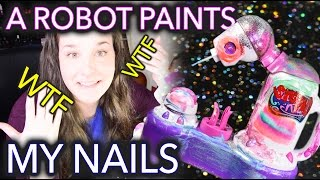 Download A Robot Paints my Nails because technology Video