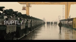 Download Lithuania: Dozens of German tanks arrive in Lithuania for NATO deployment Video