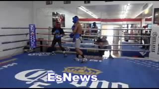 Download Trainer Offers Fighter $200 To Drop His Fighter In Sparring - EsNews Boxing Video