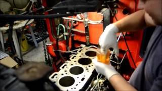 Download Installation af foringer / Cylinder liner installation - Volvo D39T Motor/Engine (Perkins A4.236) Video