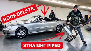 Download WE HACKED THE ROOF OFF AND STRAIGHT PIPED MY SUPERCHARGED AMG! *ITS SO LOUD* Video