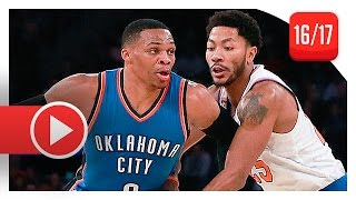 Download Russell Westbrook vs Derrick Rose EPIC PG Duel Highlights (2016.11.28) Knicks vs Thunder - MUST SEE! Video