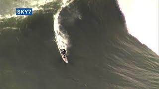 Download Surfers brave monster Mavericks waves Video
