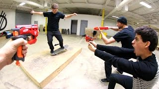 Download Skate While Getting NERF ATTACKED! Video