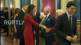 Download REFEED: Queen Elizabeth II hosts reception for NATO leaders in London Video