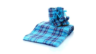 Download Soft Cozy Throw and Booties Set Video