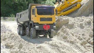 Download R/C Bulldozer Liebherr 741M.A.N 8x8 with Hydraulic steeringbig R/C Action !!Family Fun Video