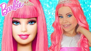 Download Barbie Doll Kids Makeup Alisa Pretend Play how GIANT DOLL & DRESS UP in Princess Dress & Makeup Toys Video