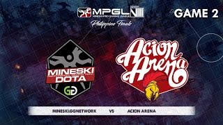 Download Mineski.GGnetwork vs Acion Arena | MPGL Season 8 Philippine Finals | Grand Finals | Game 2 Video