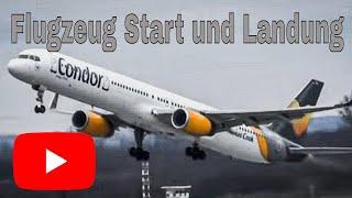 Download Flugzeug start - Flugzeuge starten und landen auf Flughafen Düsseldorf Video