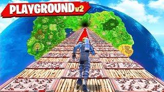 Download *NEW* 1v1v1v1 DEATH RACE GAMEMODE in FORTNITE! (PLAYGROUND MODE V2) Video