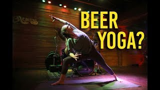 Download Sip suds while you stretch at Beer Yoga in Brentwood Video