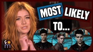Download SHADOWHUNTERS Cast Plays ″Most Likely To″ Game | Shine On Media Video