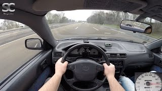 Download Toyota Paseo 1.5 (1996) on German Autobahn - POV Top Speed Drive Video