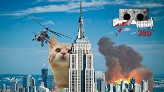 Download Catzilla - The Kaiju Kitty | Cardboard Horror #360video 360 VR cat video Video